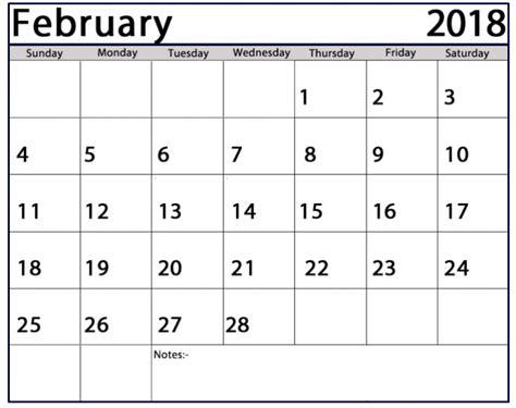 printable calendar 2018 fillable february 2018 calendar fillable