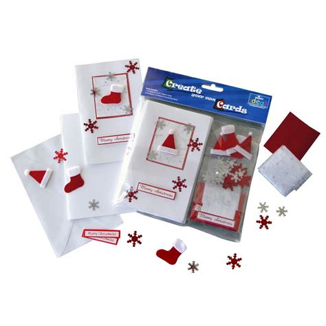 card kits uk festive card kit 6 cards