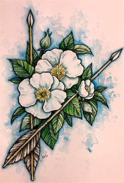 cherokee rose tattoo by jenimal on deviantart