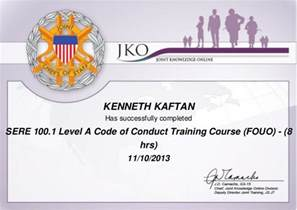 sere 100 1 level a code of conduct course