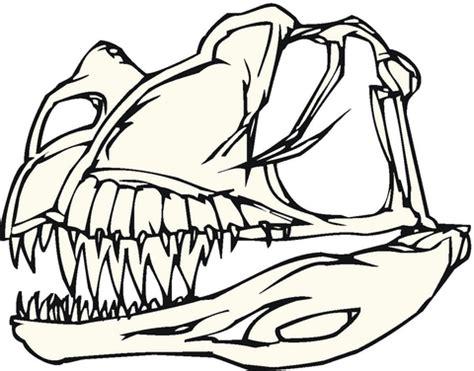 dinosaur skull coloring page desenho de ossos de dinossauro para colorir desenhos