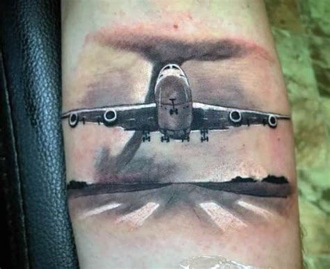 50 airplane tattoos for men aviation and flight ideas
