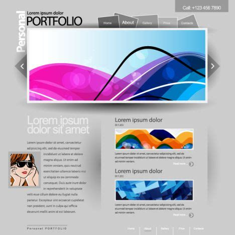 Templates For Portfolio | portfolio template