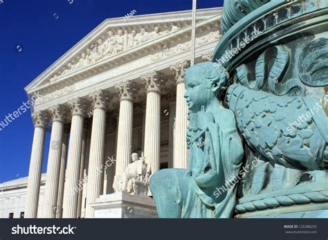 The United States Supreme Court Is Accessible To The by The United States Supreme Court In Washington Dc Stock