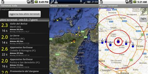 tempo reale mobile app terremoto aggiornamenti in tempo reale mobile