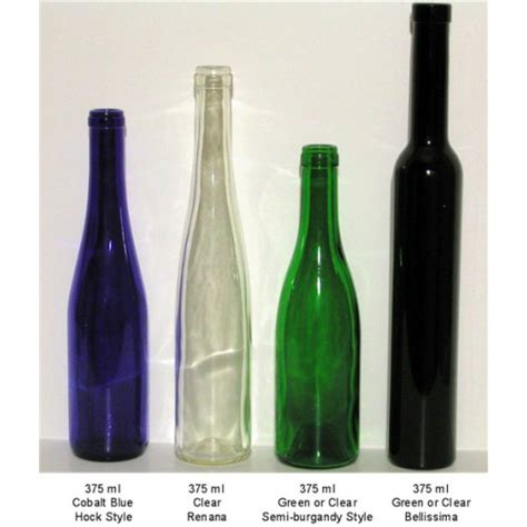 clear wine bottle 375ml