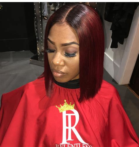 25 best ideas about middle part bob on pinterest middle black hairstyles red with middle part follow the queen for