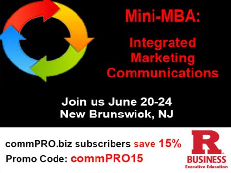 Rutgers Mini Mba Digital Marketing by Execed Connecting The Dots For Communications Success