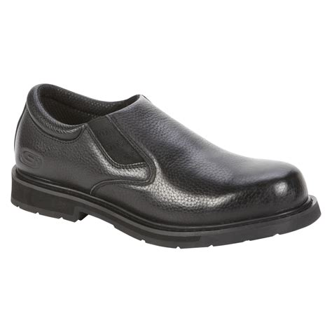 skechers s closer slip on work shoe black