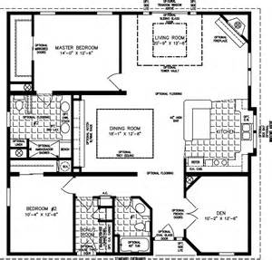 Floor Plans For 1800 Sq Ft Homes manufactured home floor plan the t n r model tnr 7402 2 bedrooms