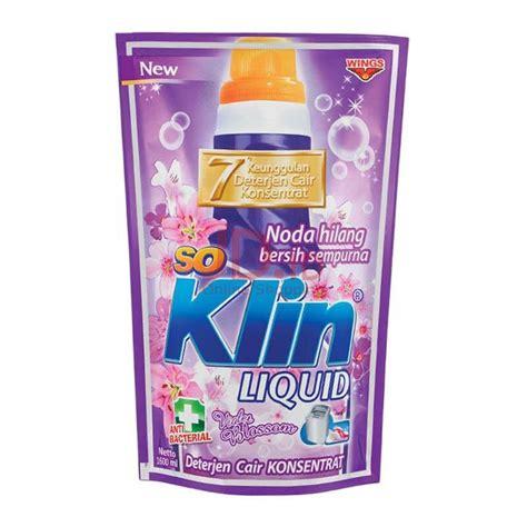 Soklin Liquid 1600 Ml So Klin jual so klin liquid detergent violet pouch 1600ml jd id