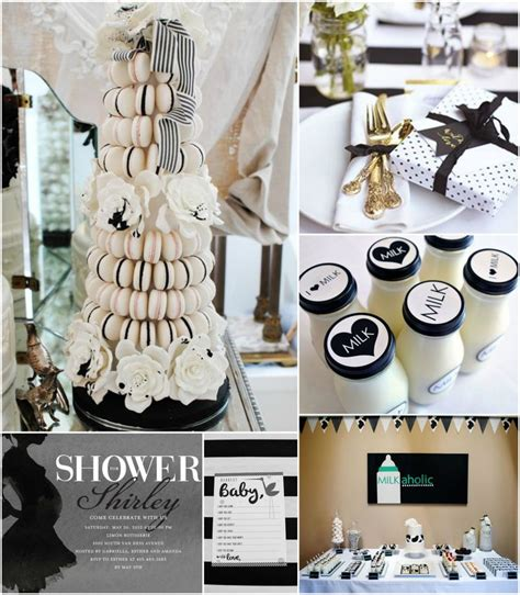 Black And White Themed Baby Shower by 125 Best Black White Gold Baby Shower Images On