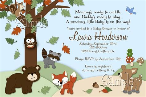 Woodland Animals Baby Shower by Forest Critters Print Your Own Woodland Animals Baby