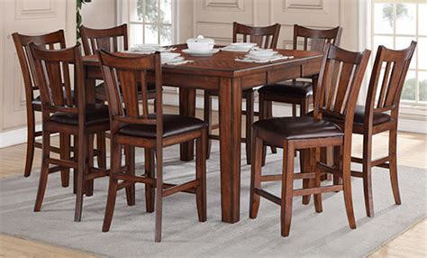 9 piece counter height dining room sets dining room sets 9 piece peenmedia com