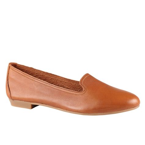 loafer leather shoes aldo zenica leather loafer shoes in brown cognac lyst