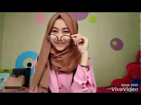 tutorial kerudung pashmina velvet tutorial hijab pashmina bahan velvet mengunakan kaca mata