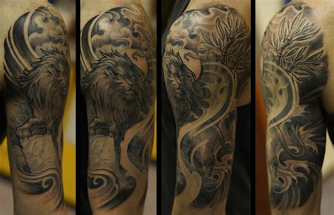 lion tattoo half sleeve 32 designs ideas design trends premium