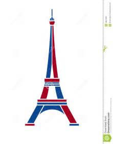 eiffel tower logo in red and blue paris stock vector
