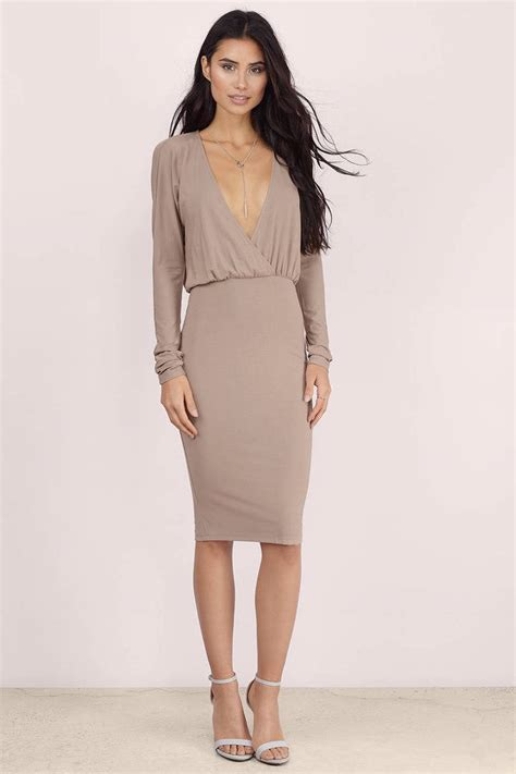 taupe color dress taupe midi dress taupe dress sleeve dress taupe