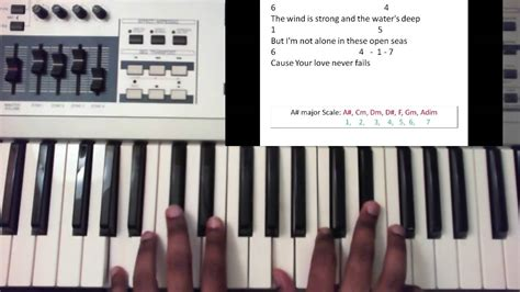 piano tutorial jesus is love your love never fails jesus culture piano tutorial