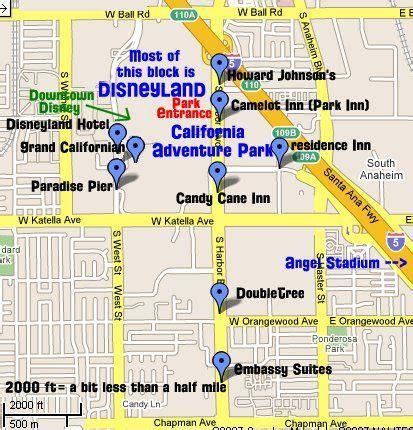 map of disneyland hotels tips   disneyland resorts off