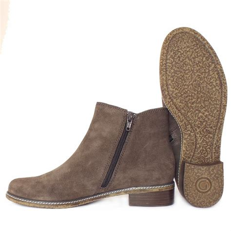 grey suede ankle boots gabor pescara s modern ankle boots in grey suede