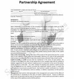 basic partnership agreement template free 10 best images of family partnership agreement templates