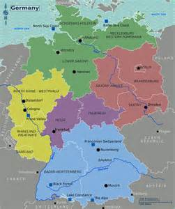 A Map Of Germany by Large English Map Of Germany With States Bundesl 228 Nder
