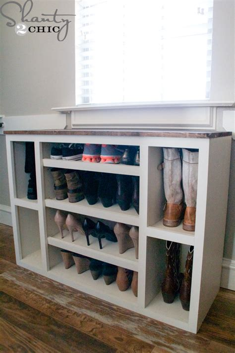 diy shoe shelf diy shoe storage cabinet shanty 2 chic