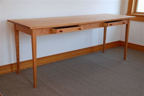 Handmade Wooden Desk - handmade two person computer desk custom made of cherry