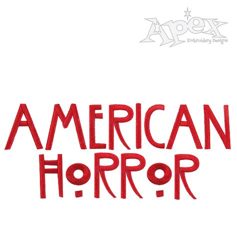 font design horror american horror story embroidery fonts