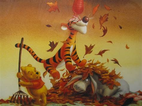 Furniture Auctions disney winnie the pooh in autumn lithograph print 2080447