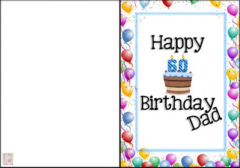 printable greeting cards for dads birthday card invitation design ideas happy birthday dad cards