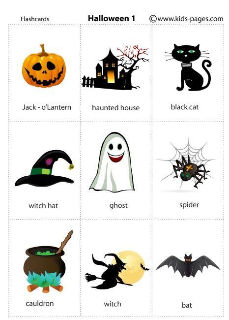 halloween flashcards printable carte m 233 moire halloween and enfant on pinterest