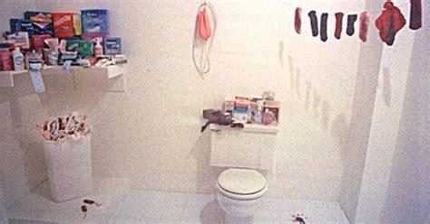 judy chicago menstruation bathroom judy chicago womanhouse menstruation bathroom art