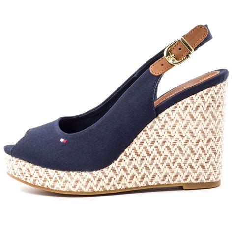 New Stok Wedges T 1 3 8 Bagus hilfiger 7d womens wedge sandals in navy