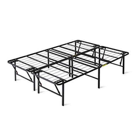 Intellidream 18 Tall Bi Fold Metal Platform Bed Frame How To Set Up A Metal Bed Frame