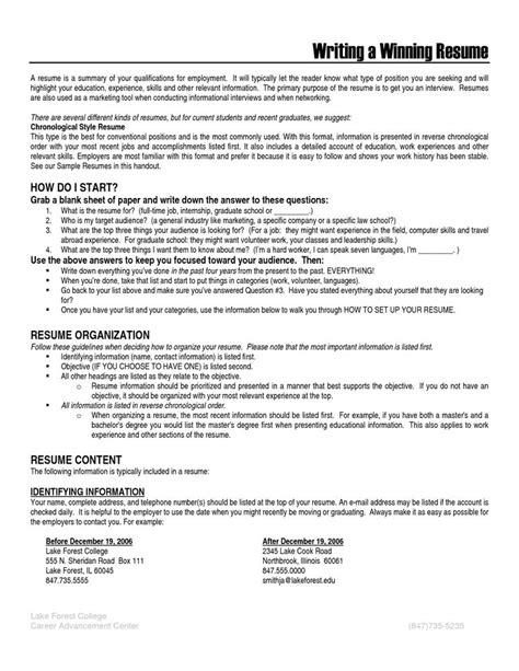 Resume Writing Volunteer Work resume writing for volunteer