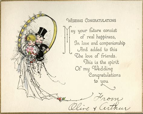 Wedding Card by The Copycat Collector Collection 244 Vintage 1920s
