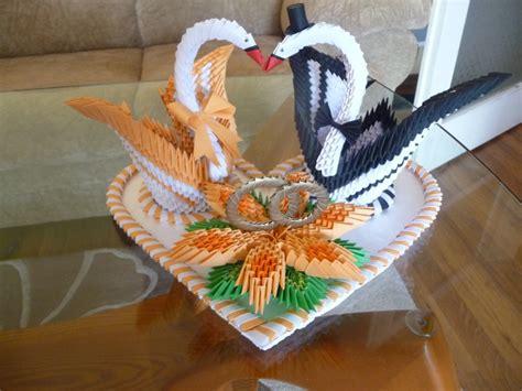 wedding swans jpg album kaleia 3d origami