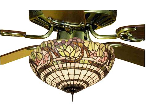 stained glass ceiling fan light kit meyda 12706 tiffany handel grapevine fan light fixture