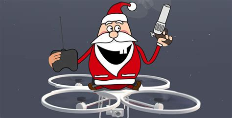 Santa On Drone After Effects Template Videohive 9337838 Ae Templates Videohive Drone Intro Template