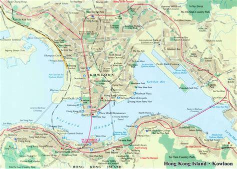 printable street map of hong kong map of hong kong island and kowloon china mapof hong