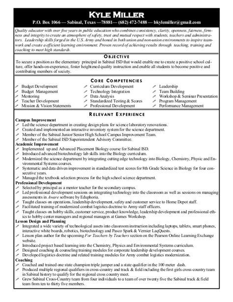 Principal Resume by Principal Resume R3 2