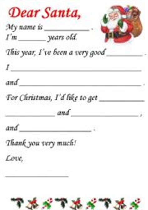 Letter To Santa Template Worksheet   english worksheets letter to santa