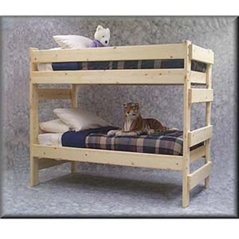 unfinished wood bunk beds the premier solid wood bunk bed
