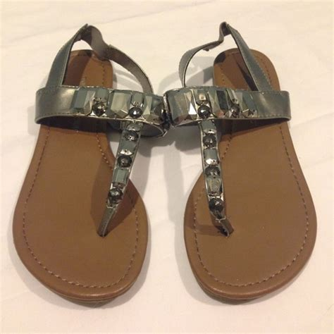sandals club mobay montego bay club silver beaded sandals from kathryn s