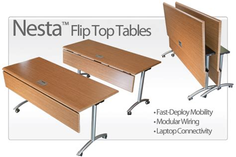 flip top mobile table nesta flip top conference tables mobile training tables