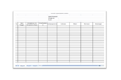 format buku agenda guru agenda harian guru pendidikan