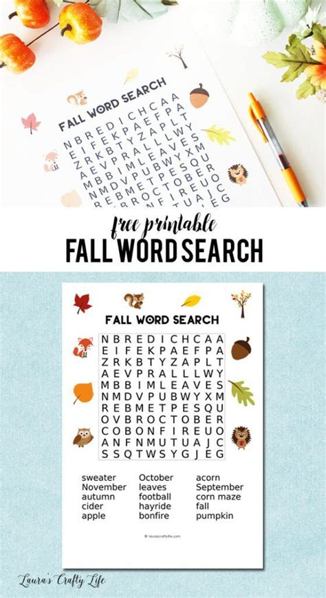 Printable Word Search Answers